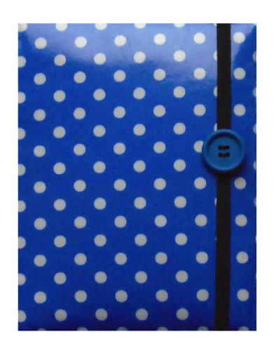 Blue and White Polka Dot Print E-Reader Case - Miss Pretty London UK Limited