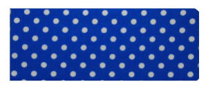 Blue and White Polka Dot Print Chequebook Wallet
