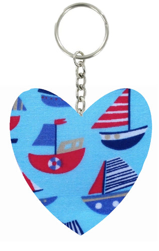 Blue_Boats_Print_Heart_Keyring