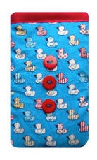 Blue Quacky Ducks Print Mobile Phone Sock Pouch - Miss Pretty London UK Limited