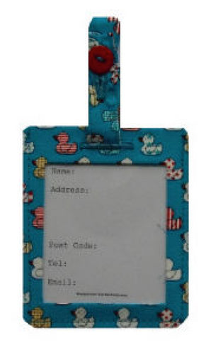 Blue Quacky Duck Luggage Identity Bag Tag