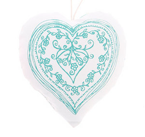 Blue Blossom Hanging Heart Decoration - Miss Pretty London UK Limited