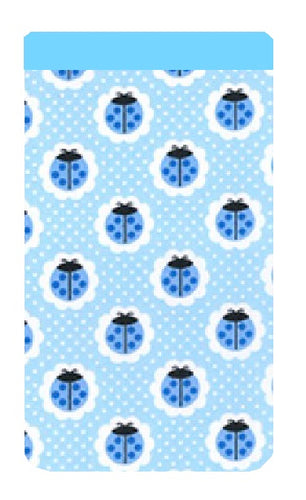 Blue Ladybird Print Mobile Phone Sock Pouch