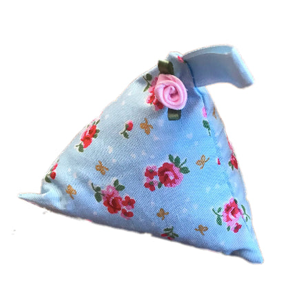 Blue Vintage Flower Print Lavender Bag