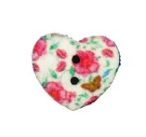 Butterflies_and_Roses_Print_Wooden_Heart_Buttons_-_Pack_of_5