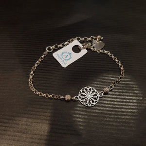 Floral Sterling Silver 925 Bracelet - AB142 - Miss Pretty London UK Limited