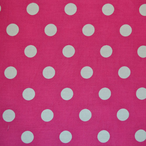 Cerise_Pink_and_White_Spots_Cotton_Fabric
