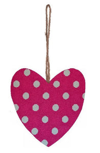 Pink_and_White_Polka_Dot_Print_Plump_Fabric_Hanging_Heart
