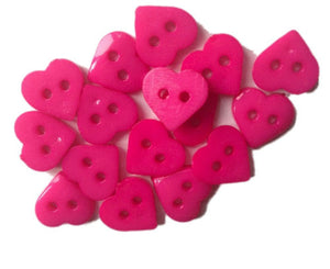 Cerise_Pink_Plastic_Heart_Buttons_-_Pack_of_10
