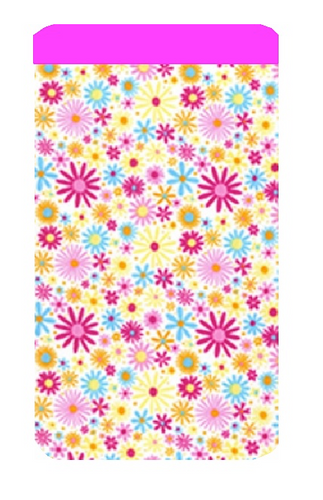 Bright Daisy Print Mobile Phone Sock Pouch