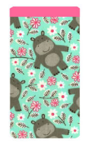 Daisy Hippo Print Mobile Phone Sock Pouch