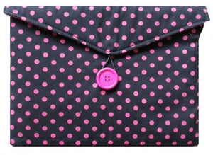 Dark_Pink_Polka_Dot_Print_Tablet_Bag