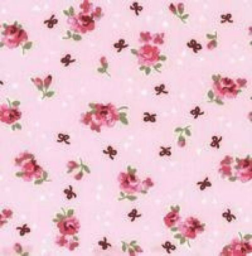 Pink_Vintage_Flowers_Print_Cotton_Fabric