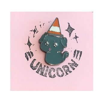 Dog Unicorn Pin Badge
