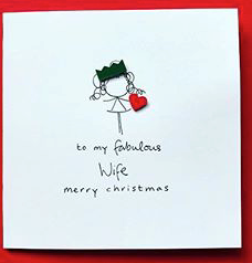 Fab Wife Christmas Greeting Card - WH015