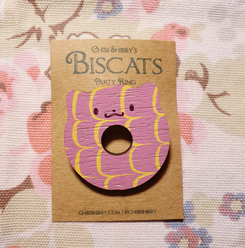 Handmade Biscat - Party Ring Brooch - CS23 - Miss Pretty London UK Limited