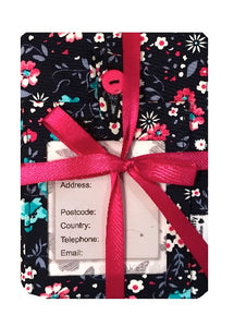 Garden Petals Print Passport Cover and Luggage Tag Gift Set