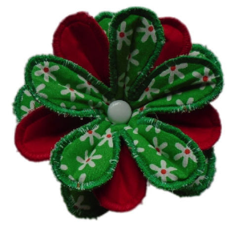 Green_Daisy_Print_Flower_Brooch