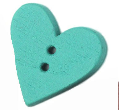 Aqua_Wooden_Heart_Buttons_-_Pack_of_5
