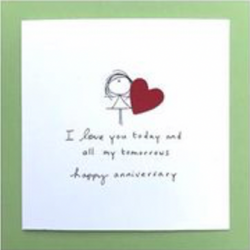 Happy Anniversary Greeting Card - WCC18 - Miss Pretty London UK Limited