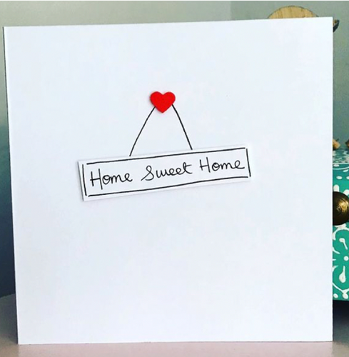 Home Sweet Home Greeting Card - WCC17 - Miss Pretty London UK Limited