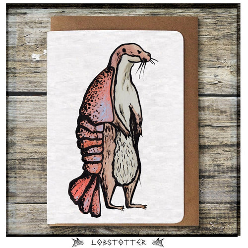 Lobstotter Greeting Card - Miss Pretty London UK Limited