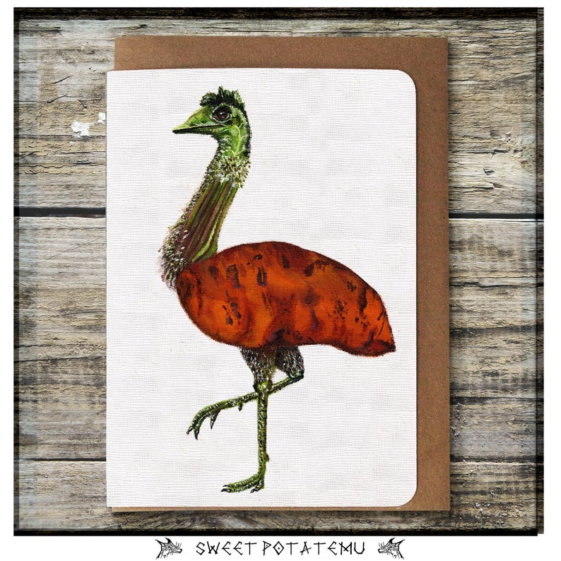 Sweet Potatemu Greeting Card - Miss Pretty London UK Limited