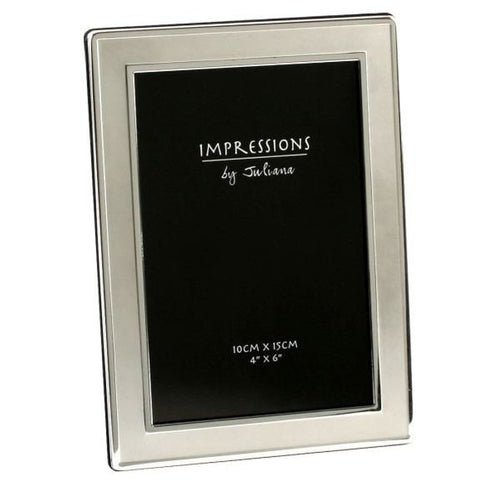 Silverplated Satin Plain Photoframe 4 Inch X6 Inch
