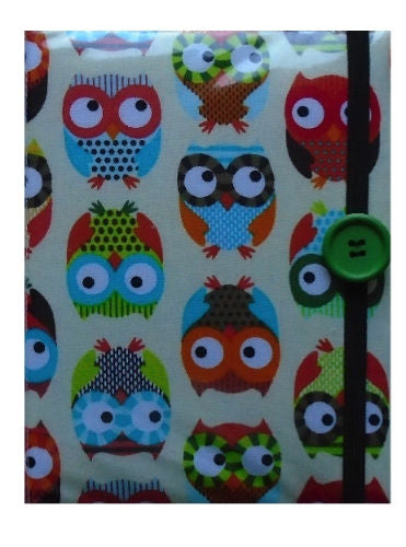 Large Beige Owls Print E-Reader Case - Miss Pretty London UK Limited