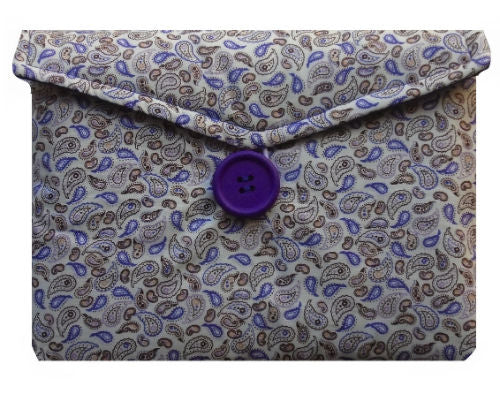 Lilac Paisley Print Tablet Bag - Miss Pretty London UK Limited