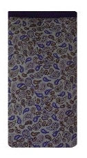 Lilac Paisley Print Mobile Phone Sock Pouch - Miss Pretty London UK Limited
