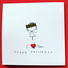 I Love You Christmas Greeting Card - WH018