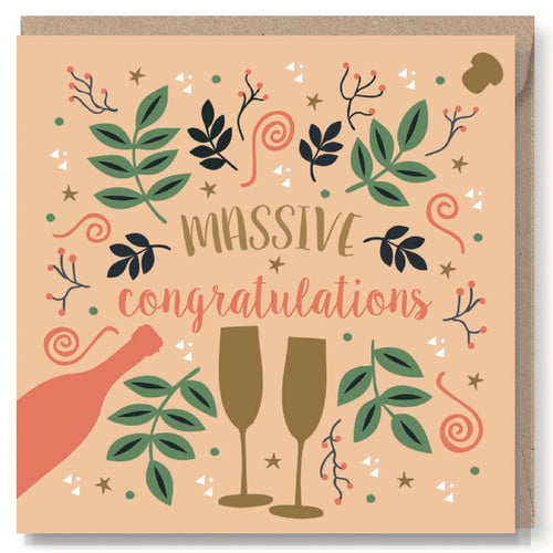 Massive Congratulations Greeting Card