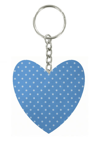Powder_Blue_Polka_Dot_Print_Heart_Keyring