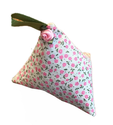 Pink Mini Flowers Print Lavender Bag