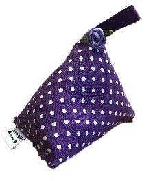 Mini Purple Polka Dot Print Lavender Bag