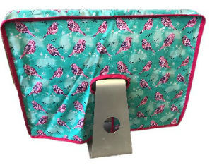 Mint and Plum Birds Print Apple iMac Screen Cover - Miss Pretty London UK Limited