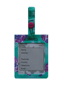 Mint and Plum Birds Print Luggage Identity Bag Tag - Miss Pretty London UK Limited