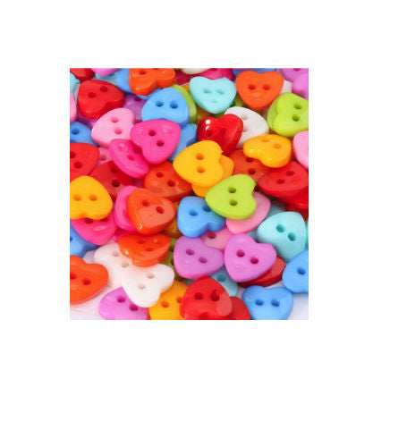 Mixed_Plastic_Heart_Buttons_-_Pack_of_10