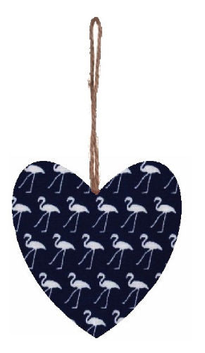 Navy_Blue_Flamingo_Print_Plump_Fabric_Hanging_Heart