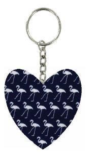 Navy_Blue_Flamingo_Print_Fabric_Heart_Keyring