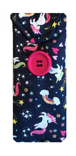 Navy Unicorn Print Glasses Case - Miss Pretty London UK Limited