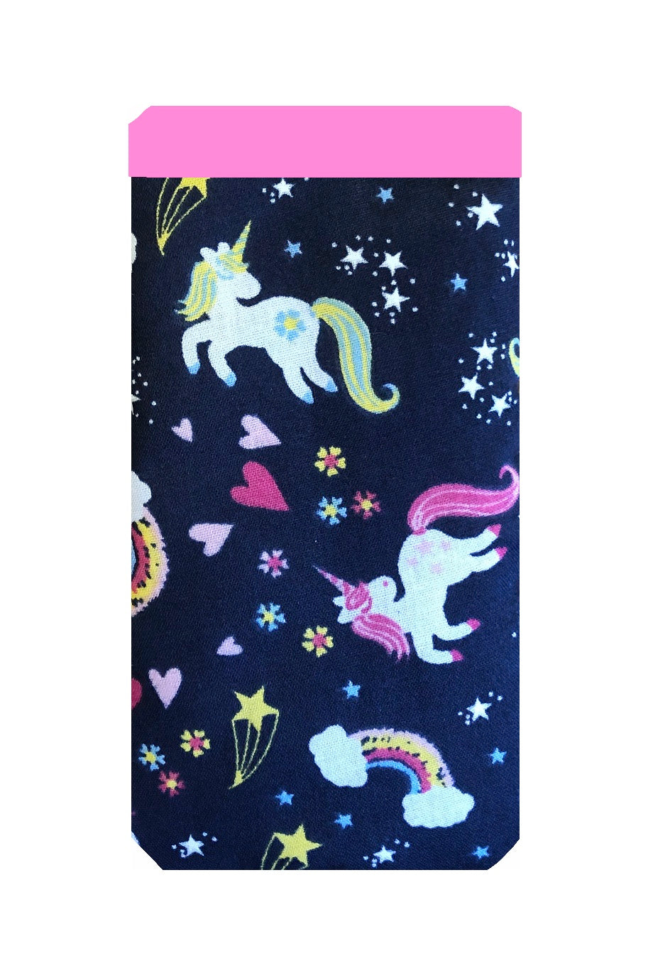 Navy Unicorn Print Mobile Phone Sock Pouch - Miss Pretty London UK Limited