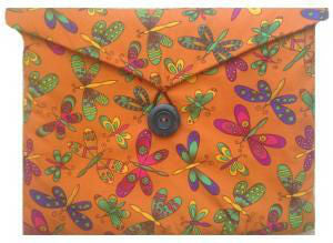 Orange Butterfly Print Apple iPad Case - Miss Pretty London UK Limited