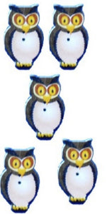 Yellow_Owl_Buttons_-_Pack_of_5