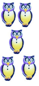 Purple_Owl_Buttons_-_Pack_of_5