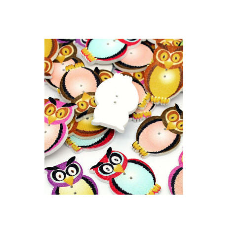 Mixed_Owl_Buttons_-_Pack_of_5