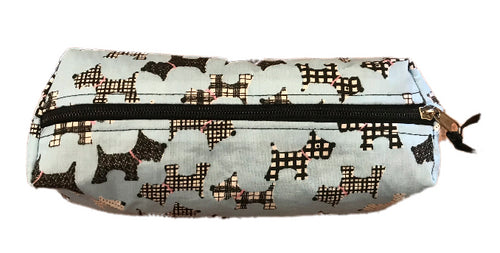 Pale Blue Scottie Dogs Pencil Case