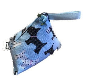 Pale Blue Scottie Dogs Print Lavender Bag