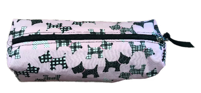 Pale Pink Scottie Dogs Pencil Case